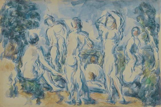 Group of Bathers, 1900. Paul Cezanne