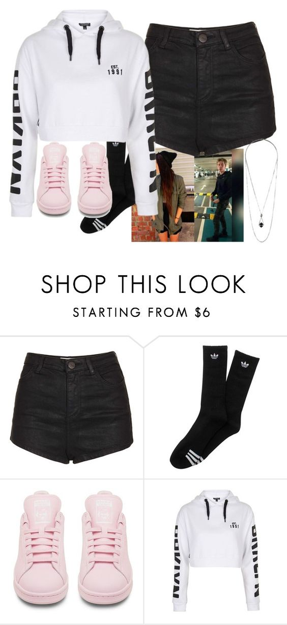 """""""Cinema with ~Cameron"""" by punk-irwin ❤ liked on Polyvore featuring Topshop and adidas"""