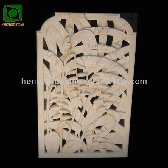 Carved Stone Wall Panel Relief Sculpture