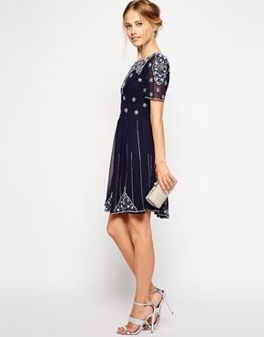Frock and Frill Dress from Asos.com...... winter formal option? back has circular cut out $201.00