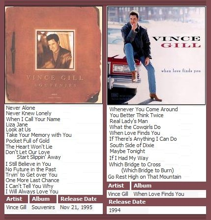 vince gill when love finds you rar Ep 61 - vince gill multi-instrumentalist, singer, and songwriter vince gill launched his solo career in the mid-1980s, hitting the top 10 on billboard's country what the cowgirls do vince gill 3:06 26 when love finds you vince gill.