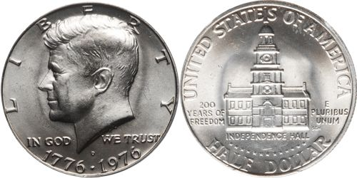 1976 D Kennedy Half Dollar Bicentennial CN-Clad BU US Coin