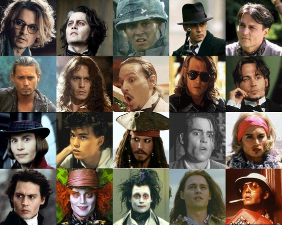 johnny depp in charact...