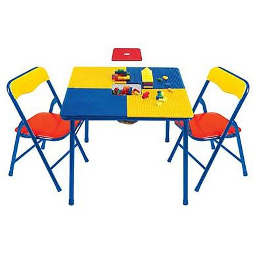 Toys R Us Building Block Table With, Wooden Lego Table With Chairs