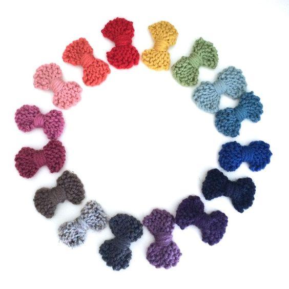 LuluLuvs: Mini Brynn Knit Bow Hair Clip #PartofMarthaStewartAmericanMade