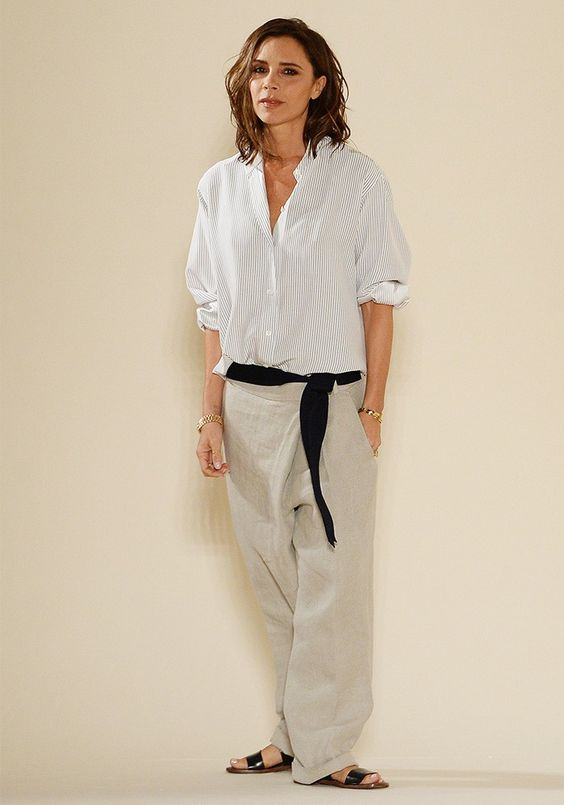 Victoria Beckham Wore the Most Chilled Outfit on the Runway via @WhoWhatWearUK