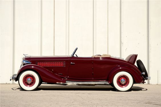 1935 AUBURN 851 CABRIOLET - Side Profile - 189588