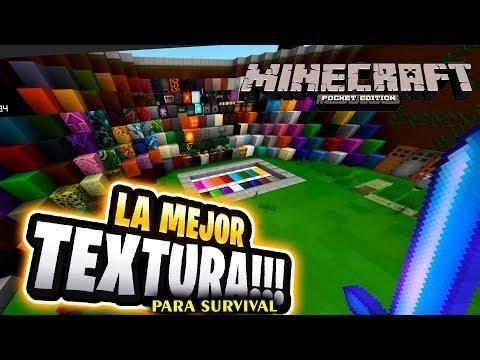 La Mejor Texture Pack Para Tu Survival Minecraft Pe 1 8 0 1 9 0 1 7 0 Minecraft Pe Minecraft Texture Packs