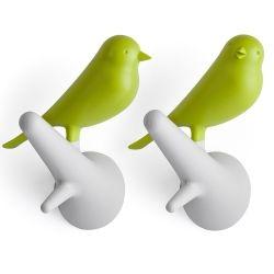 Qualy Vogel Kapstokhaken - set van 2 kopen? Bestel bij fonQ.nl