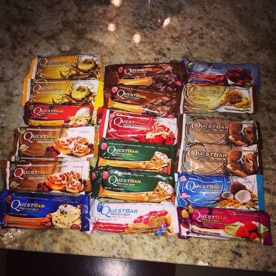 Questbars! All natural protein bars...