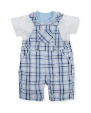 Check Dungaree Baby Outfit