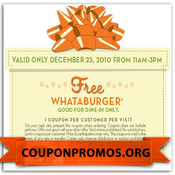printable whataburger coupons for August September October - coupon disclaimers