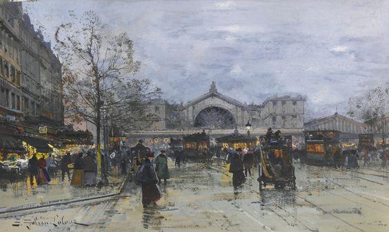 galien-laloue, eugène la gare | architectural | sotheby's n09499lot8z5rten: