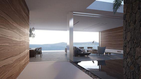 Magnifique maison d architecte mayotte avec une vue for Interieure de maison moderne