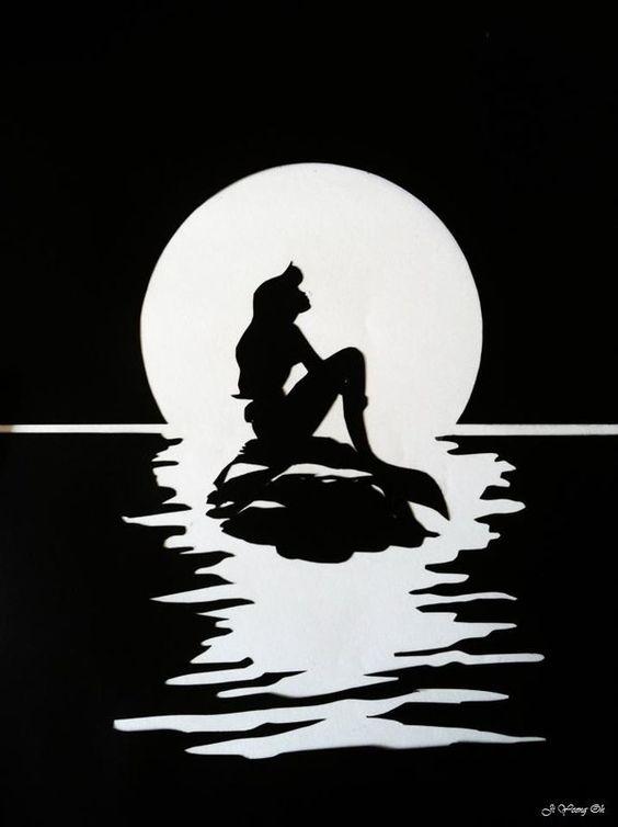 Little mermaid silhouette. | Papper - 26.7KB