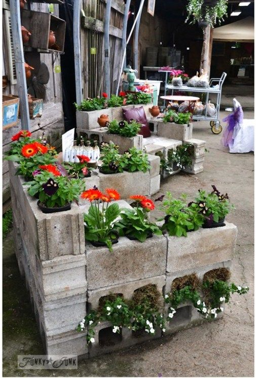 cinder block garden planter chair recipes to cook. Black Bedroom Furniture Sets. Home Design Ideas