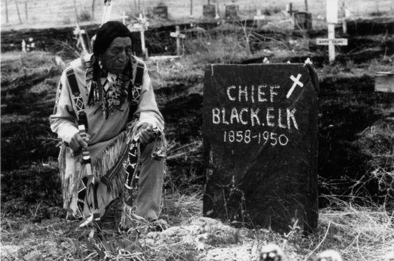 Nicholas Black Elk's gravesite, St. Agnes Church, Pine Ridge Reservation, South Dakota