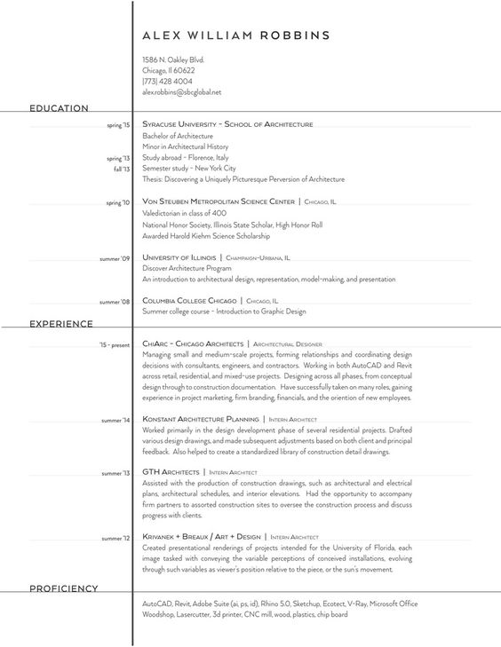 Gallery of The Top Architecture Résumé\/CV Designs - 12 Resume cv - architecture resume
