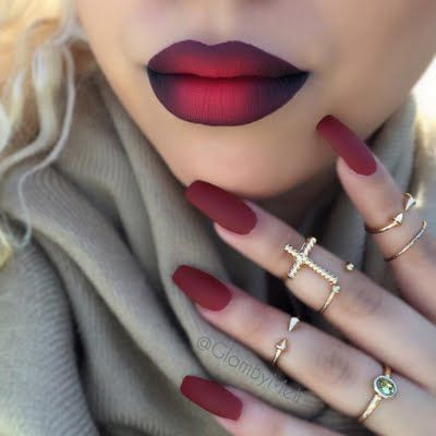 Match your lips and nails red for an exotic yet romantic look. Recreate this look with the how to tutorial.