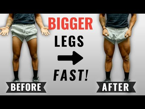 How To Get Bigger Legs Fast 3 Science Based Tips For Bigger Quads Youtube Bigger Legs Workout Leg And Glute Workout Leg Workout