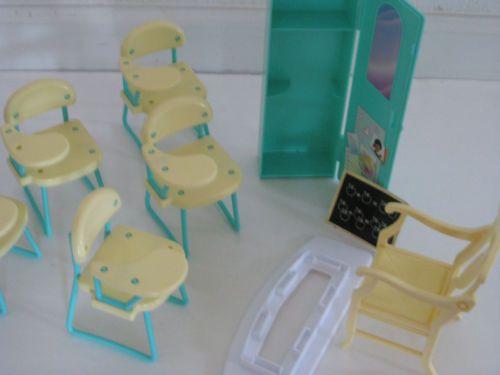 Barbie 1990 School Chairs Desk Lot 1991 Locker Teacher S Chair Pinterest