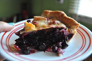 The easiest blueberry pie in the world...