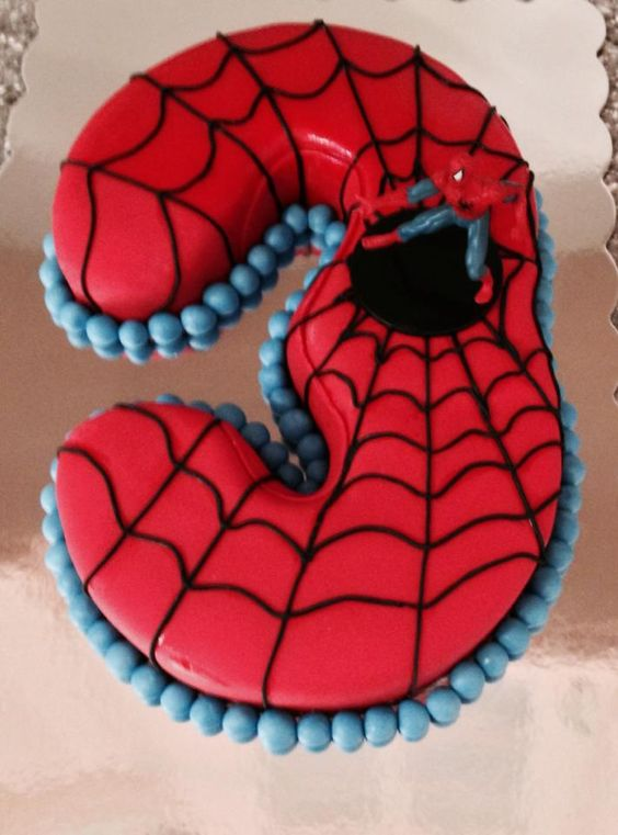 Spiderman cake with number 3! | Cakes I have made or ...