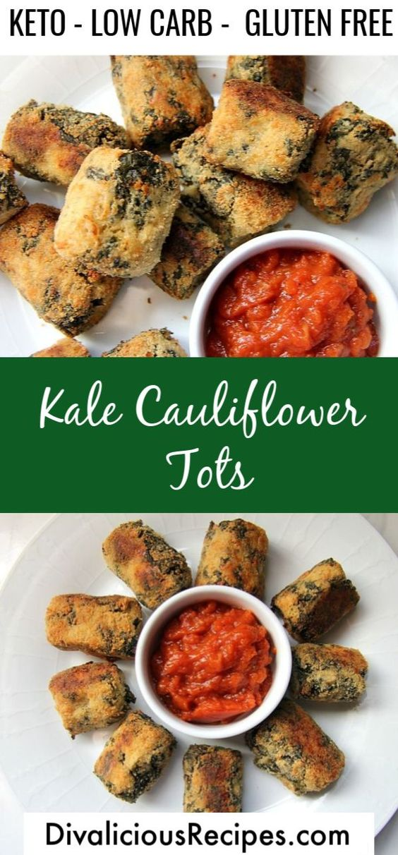 Keto Kale Cauliflower Tots Recipe