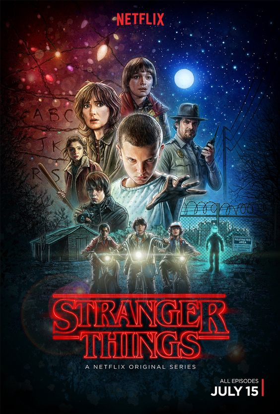 Stranger Things - Netflix Poster Art | Abduzeedo Design Inspiration