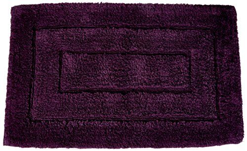 Kassatex 100 Percent Egyptian Cotton Kassa Design Bath Rug 20 By 32 Inch Plum Bath Design Bath Rug Design