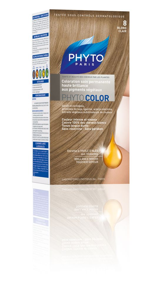 phytocolor coloration permanente tous cheveux nuance 8 blond clair phyto phytoparis - Coloration Phyto