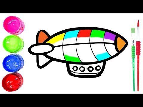 Cara Menggambar dan Mewarnai Mainan balon udara panas (Dengan ...