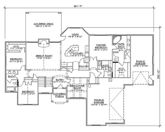 Rambler house plans with basements professional house for Rambler floor plan