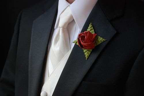 origami roses from my wedding (origami bout)