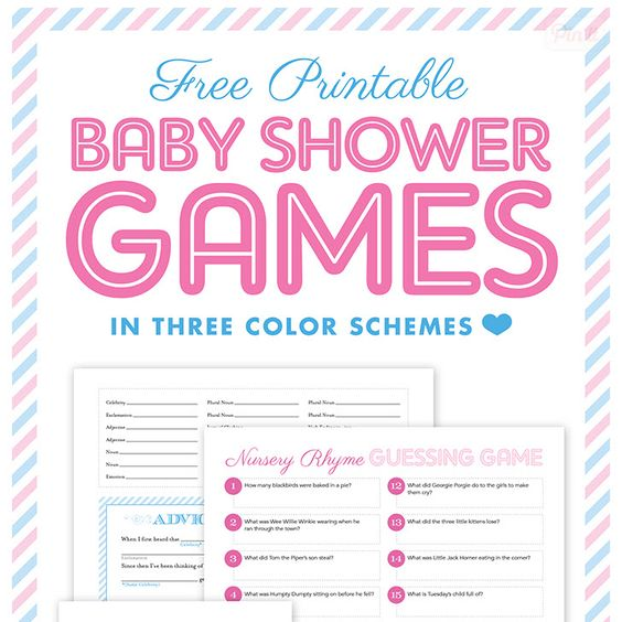 Free Online Printable Baby Shower Games: FREE Printable Baby Shower Games {with I Heart Nap Time