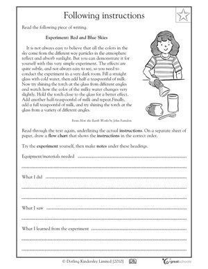 free writing assignment for 5th grade