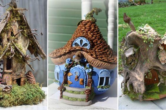 Profitez de l'hiver pour bricoler vos maisons de fées!