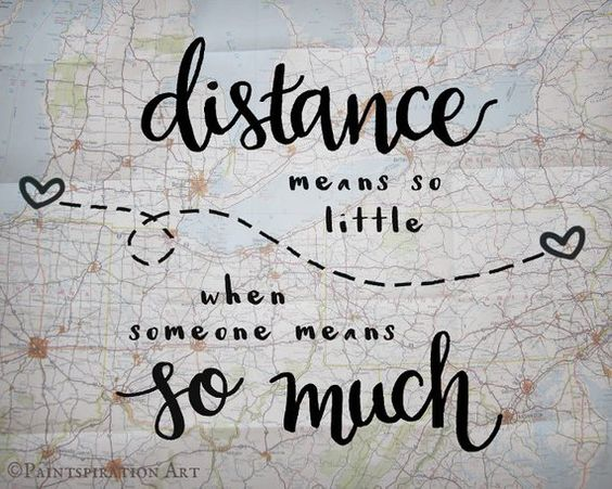 Long Distance Relationship Gift Distance Means So Little Love Quote Gift - Long Distance Family Gift