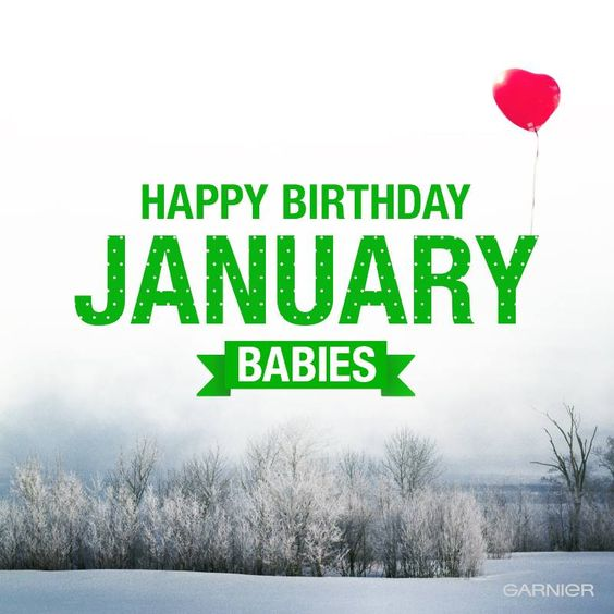 Fashion style January Happy birthday pictures for lady