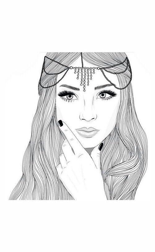 art, noir, dessin, mode, fille, grunge, cheveux, bijoux, ongles, pacification, tristement, Tumblr, blanc
