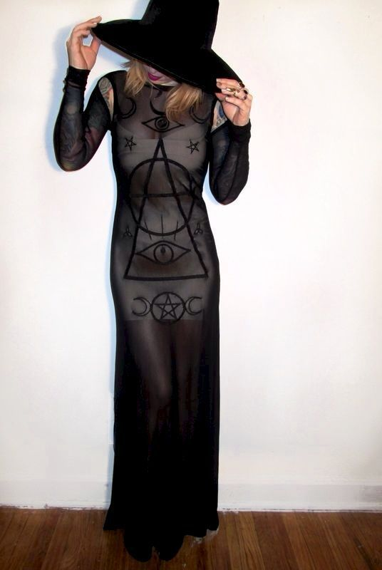 I love this dress. perfect witch outfit oxblood colored nails and lip :)