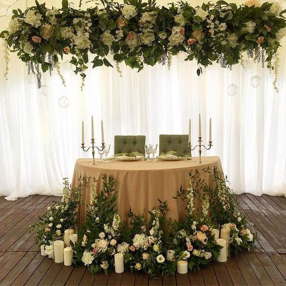 16 Mesa principal de boda