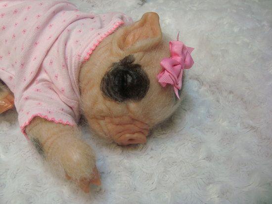 Petal Piglet By Cynthia Ritter Of Bumkins Pumkins Reborn Baby Dolls Petal Fiberfill