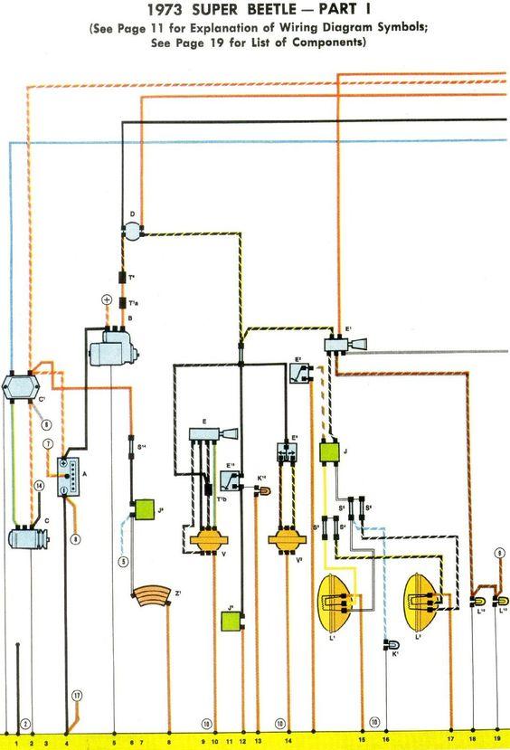 1973 Super Beetle Wiring Diagram Thegoldenbug Com Vw Super Beetle Vw Beetles Engineering