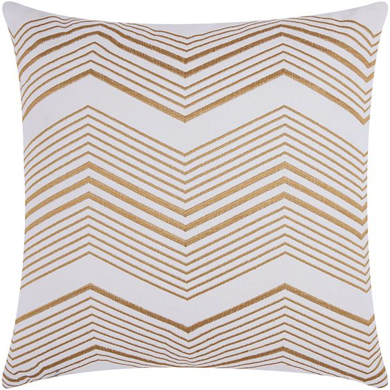 Mina Victory Luminescence Thin Gold Throw Pillow by Nourison