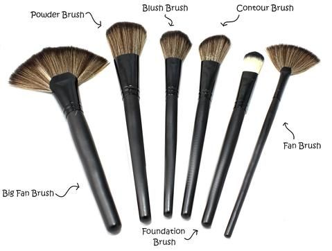 Make Up Brushes And Their Uses Fan Brush Makeup Bronzer Brush Makeup Brushes