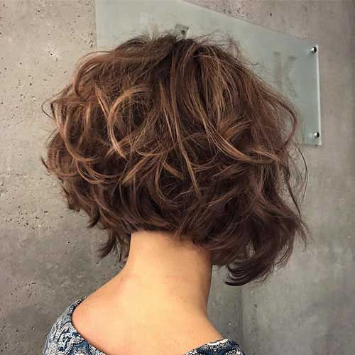 Back View Of Short Layered Bob Hairstyles Back View Of Short Layered Haircuts Short Hairstyles For Thick Hair Short Layered Curly Hair Hair Styles