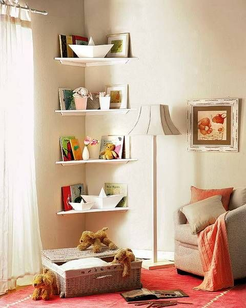 interior designer furniture - Shelves for bathroom, orner shelving and Small corner on Pinterest