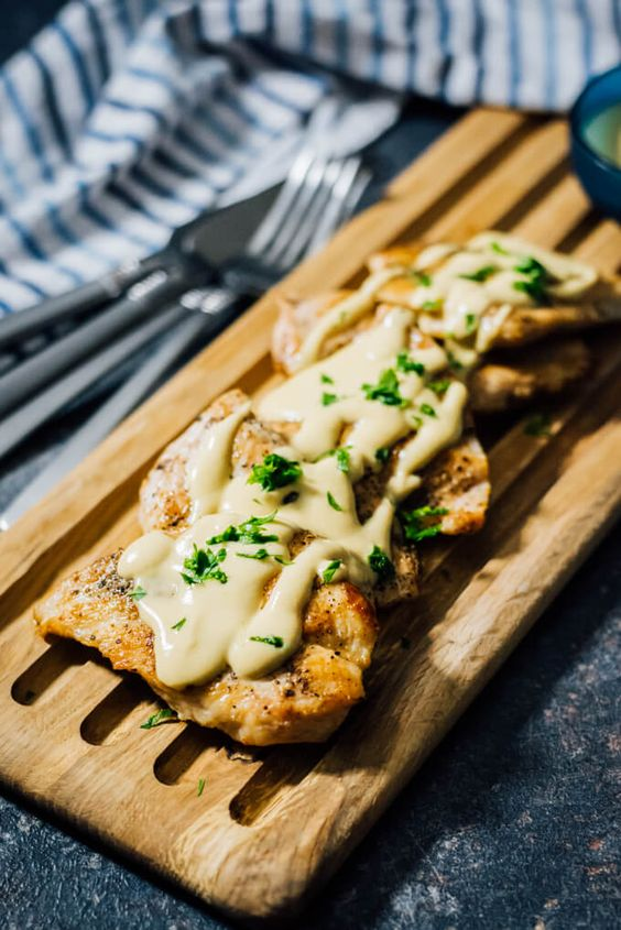 Chicken with Creamy Mustard Sauce is a delectable yet simple chicken recipe that you can make on weekdays or for your dinner parties. Wonderfully juicy and finger lickin' good with the mustard sauce on it.