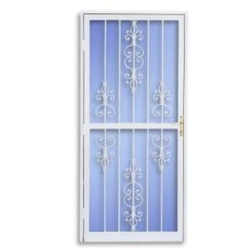 American White Fullview Security Storm Screen Door 36 X 80 At Menards Steel Security Doors Security Door Security Storm Doors